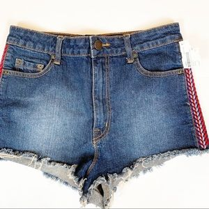 BDG Urban Outfitters high rise cheeky jean shorts